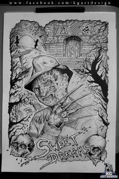 Freddy Krueger - fanart made by: Fanpage: https://www.facebook.com/KGDesignArt/  Deviantart: http://kgartdesign.deviantart.com