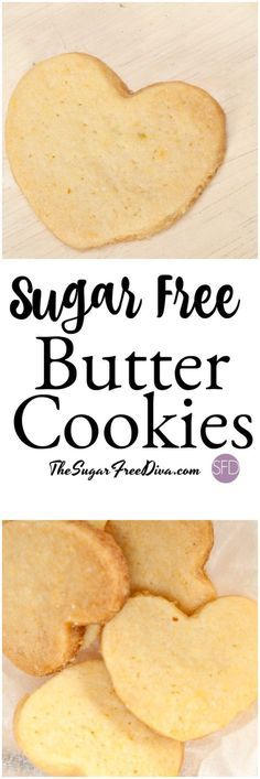 This is the best and most delicious and simple recipe for Sugar Free Butter Cookies are perfect for your next dessert or gathering! Sugar Free Deserts, Sugar Free Sweets, Sugar Free Cookies, Sugar Free Recipes, Keto Cookies, Cookies Et Biscuits, Diabetic Cookies, Sugarless Cookies, Sugar Free Biscuits