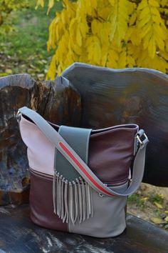 Leather Shoulder Bag Handmade Leather Bag Fringe by CORYSBAGS