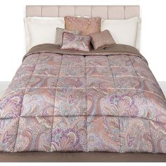 Etro Doyen Bedspread - 650 ($800) ❤ liked on Polyvore featuring home, bed & bath, bedding, bedspreads, purple, paisley bedspread, paisley bedding, etro, purple bedding and cotton quilted bedspread