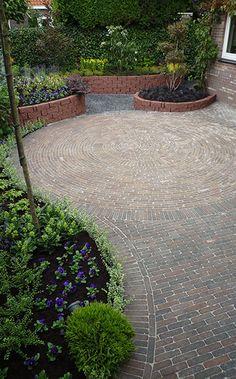 Brick Garden, Garden Paths, Garden Bridge, Small Gardens, Outdoor Gardens, Outdoor Stone Fireplaces, Pergola, Outdoor Kitchen Patio, Garden Design