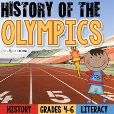 The History of the Olympics: from Ancient Olympics to Modern OlympicsThe best thing about this product is that it can be used over and over with each Olympic event.  Use it now and then again in 2 years with the Summer Games or in 4 years with the Winter Games (depending on your school calendar).***PERFECT to use for test prep, too!!!***I created this product to be used in 2 parts.Part 1:Ancient Olympics-- 3-page reading comprehension passage on the history of the Ancient Olympics…