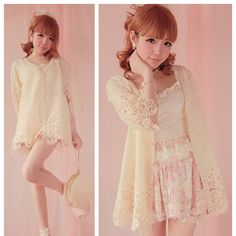 """Free shipping worldwide!  Material: made of cotton and polyester.  Color: Beige  One size:  Shoulder length: 36cm/14.17""""  Bust: 94cm/37.01""""  Sleeve length: 40cm/15.75""""  Sleeve width: 32cm/12.6""""  Length: 71cm/27.95""""  Product net weight: Approx 0.3 KG"""