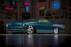 "1957 CHEVROLET BEL AIR ""CHEZOOM"" CUSTOM - Barrett-Jackson Auction Company Ron Pratte collection, Scottsdale Jan '15 Built by Boyd."