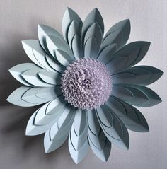 3D Paper Flower Wall Décor by PaperFlowerCompany on Etsy