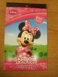 Minnie Mouse Bow-tique Sticker Pad Over 200 Stickers by Disney. $6.78. Minnie Mouse Bow-tique Sticker Pad Over 200 Stickers