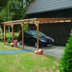 Carport bois 15.72 m2 ADAMS1 365x436x249cm KARIBU