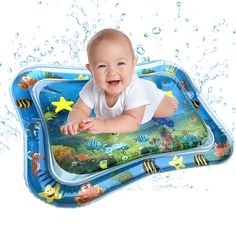 Baby Gym, Baby Play, Infant Play, Water Play For Kids, Water Play Mat, Play Mats, Fun Activities For Toddlers, Time Activities, Toddler Fun