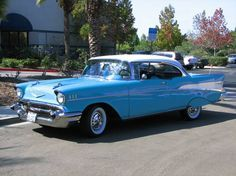 """57 Chevy Belair ~ This was our """"family"""" car.  Dad drove me to school, and I got it on the weekends!!!"""