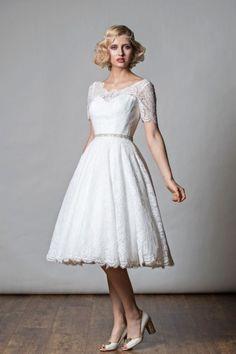 Rita Mae Tea Length Wedding Dress 1068