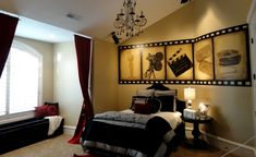 Artistic Murals: Holly Wood themed room / for a teen girl