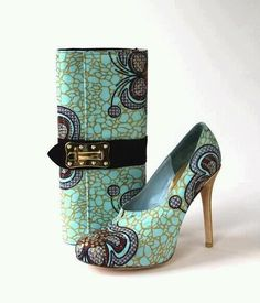 #pumps and clutch African Fashion #AfricanFashion #nice