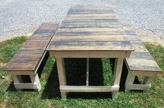 6' French Country Cottage Dining Table & Bench Set, Picnic Table, Serene…