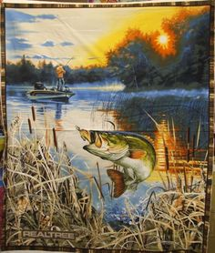 Go Jump In The Lake Cotton Fabric Panel