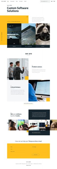 Dribbble - wecode-index.jpg by Bart Ebbekink Web Design Black, Modern Web Design, Creative Web Design, Web Design Trends, Web Design Tutorials, App Design, Index Design, Report Design, Logo Design