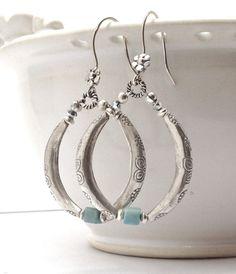 Handmade Jewelry Women's Earrings Long by GirlBurkeStudios on Etsy, $40.00