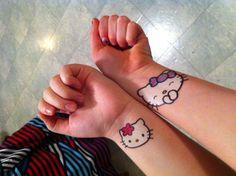 Hello kitty bff tattoos?