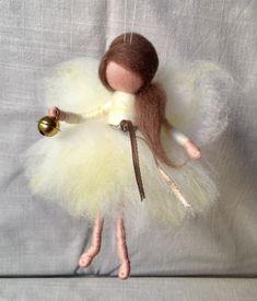 Gefilzte Figur, Nadelfilzen, Weihnachten, Wolle, Engel, Weinachtsgeschenk
