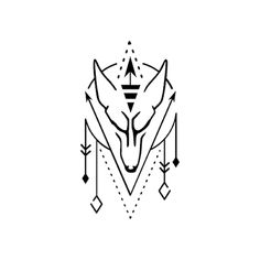 Mahigan by Martith - In most Native cultures, the wolf is considered a medicine being associated with courage, strength, loyalty, and success at hunting. Arrow Tattoos, Line Tattoos, Body Art Tattoos, Small Tattoos, Tattoos For Guys, Sleeve Tattoos, Tattos, Wolf Tattoos For Women, Wolf Tattoo Design
