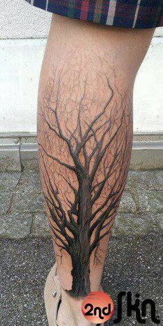 tree calf tattoo - Google Search