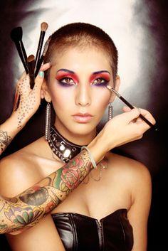 Beautiful Cosmetic Model at Work