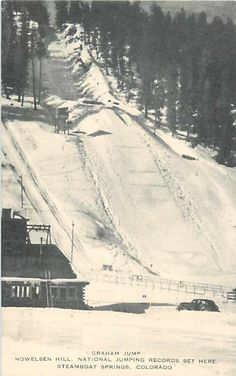 CO, Steamboat Springs, Colorado, Howelsen Hill, Graham Jump, Skiing, Artvue