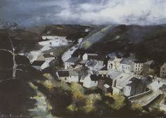 John Knapp-Fisher (1931-2015) Welsh (ARR), Solva - view in Pembrokeshire, signed and inscribed A/P in pencil, artist's proof print, 52 x 70cm. Hammer price £550
