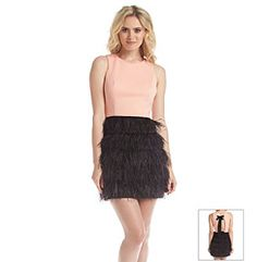 Maia Feather Skirt Scuba Dress at www.carsons.com