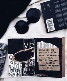 BLOGGED: best of art journal (September entries) // tumblr aesthetics, white flatlay, creative, art journaling ideas inspiration, noor unnahar poetry //