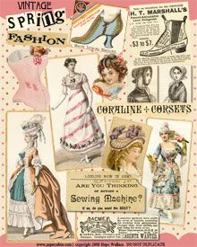 miniature printables vintage sewing and fashion ad