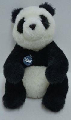 "Gund Vintage Collectors Classics Panda Plush Sitting Stuffed Animal 1985 13"" #GUND"