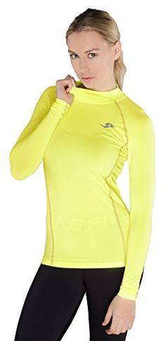 SmartSports TFx Womens Compression Long Sleeve Top Yellow  XLarge -- Check out this great product.Note:It is affiliate link to Amazon.