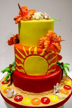 Celebrate with Cake!: Beach Themed 21st Birthday Cake