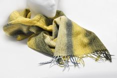 MA AL BI Biella Wool Rectangular Scarf Italy Yellow Black Woolmark Wool Winter Accessory by StarfishCollectibles on Etsy Winter Accessories, Wool Scarf, Vintage Outfits, Vintage Clothing, Yellow Black, Italy, Women, Fleece Scarf, Italia
