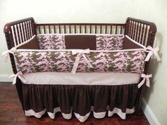 Baby Bedding Crib Sets Pink Camouflage : Just Baby Designs, Custom Baby Bedding Custom Crib Bedding Custom Nursery Bedding