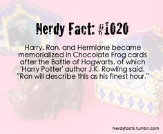 Nerdy Fact #1020  Ron's finest hour