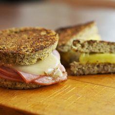 Sandwich Bread - ¼ cup almond flour, 2 tbsps flaxseed meal, ½ tsp Baking Powder, 1 egg, ½ tbsp butter, pinch of salt.