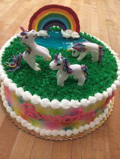 Unicorn birthday cake.