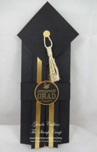Blue Ribbon Graduation Gift card or Money holder