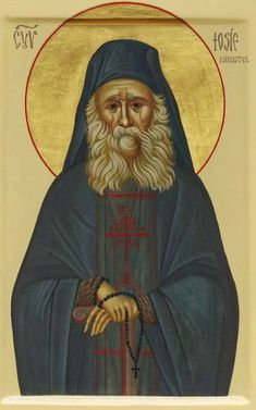 The blessed Elder Joseph the Hesychast of Mount Athos.