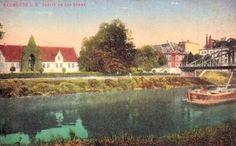 Partie an der Henne mit Blick auf die Champagnerfabrik und Hennenbrauerei, 1917