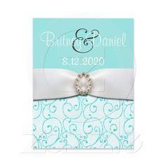 nice invitations in Tiffany blue!
