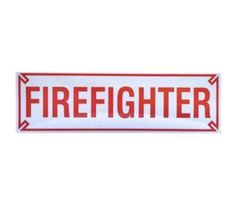 Firefighter 10 Inch Bumper Strip Firefighter Home Decor, Firefighter Gifts, Outdoor Gifts, Firefighters, Gift Ideas, Firemen, Fire Fighters