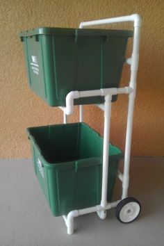 Pvc Recycle Bin Cart / Curbside Recycling Dolly, No Metal to Rust, No Paint to Peel COLOR MEL http://www.amazon.com/dp/B00C4D3U6C/ref=cm_sw_r_pi_dp_TlG0wb04DDWT2