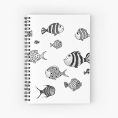 'Funny Fish' Spiral Notebook by PounceBoxArt Funny Fish, Fishing Humor, Canvas Prints, Art Prints, Notebooks, Spiral, My Arts, Printed, Awesome