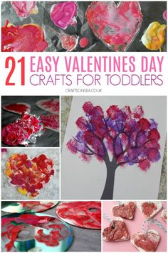 valentines day crafts for toddlers easy and fun #valentinesday #toddlers