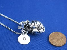 Anatomical Heart personalized with Initial Plaque by LifeOfSilver, $38.90