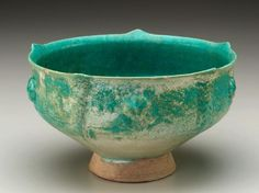 Bowl, stone-paste with glaze.  Iran, 12th century. Photograph and description taken from Freer and the Sackler (Smithsonian) Museums.