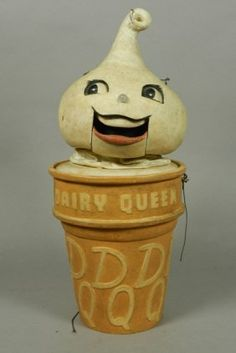 """Rare """"DAIRY QUEEN"""" Advertising Store Display With Mechanical Mouth."""