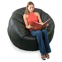online shopping for NOVICA Leather Hollywood Glam Beanbag Chair Cover, Black, Comfort' (Single) from top store. See new offer for NOVICA Leather Hollywood Glam Beanbag Chair Cover, Black, Comfort' (Single) Bean Bag Couch, Leather Bean Bag Chair, Beard Growth Kit, Cool Bean Bags, Facial Hair Growth, Singles Online, Queen Mattress, Signature Design, Karma